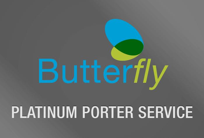 London City Butterfly Platinum Porter Service logo