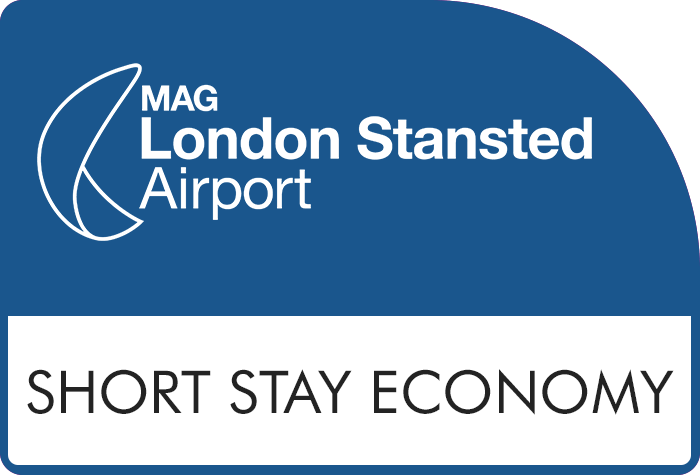 Stansted Official Short Stay Economy - Blue Zone logo