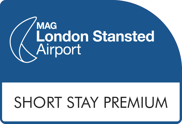 Stansted Official Short Stay Orange logo