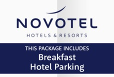 STN Novotel with breakfast and hotel parking