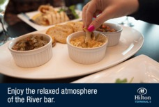 LHR Hilton River bar dips