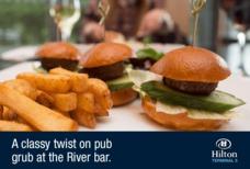LHR Hilton River bar burgers