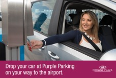 Crowne Plaza purple parking image