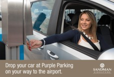Sandman purple parking image