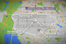 LHR Doubletree Hilton map