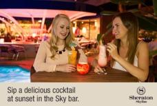 Heathrow Sheraton Skyline bar at night