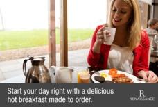Heathrow renaissance breakfast