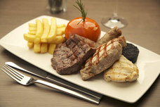 A mixed grill at the Hilton Edinburgh Hotel